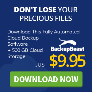 BackupBeast - Autopilot Backup Software + 500GB Online Storage!